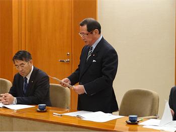 県市議会議長会県知事要望書提出